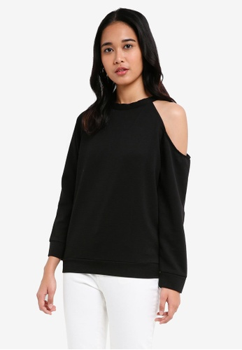 Penshoppe black Textured Knit Pullover C91ABAAFC5695FGS_1