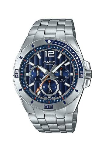 Casio silver Casio Multi Hands Analog Watch (MTD-1060D-2A) 4D510AC4D207EFGS_1