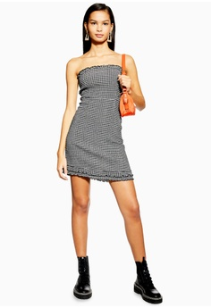 60b428c52fd9 10% OFF TOPSHOP Check Bandeau Mini Dress RM 159.00 NOW RM 142.90 Sizes 4 6  8 12