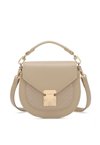 Wild Channel beige Woven Sling Bag 50212AC94828BAGS_1