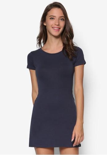 簡約休閒T 恤連身裙esprit台灣, 服飾, 洋裝