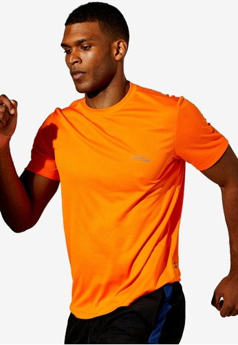 Topman orange Signature Gym Orange Logo Gym T-Shirt B30D8AA9F53E79GS_1
