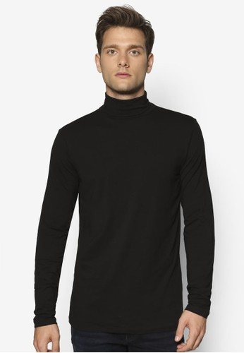 高領混棉長袖T-shirt、 服飾、 外套NewLook高領混棉長袖上衣最新折價