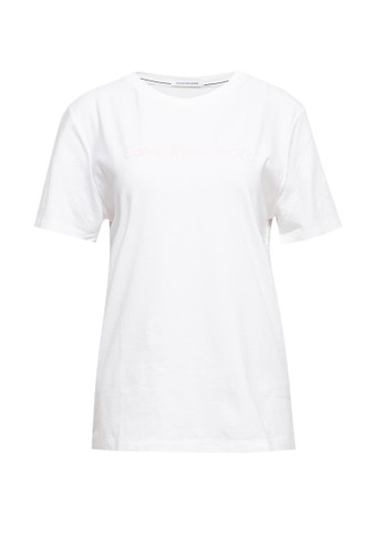Calvin Klein white AD SS PLASTISOL STRA 0578CAA405405BGS_1