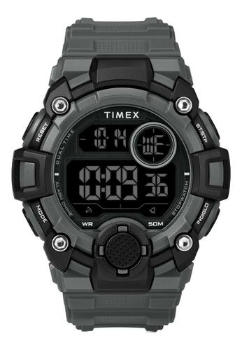 Timex grey Timex DGTL 50mm - Gray Case & Resin Strap (TW5M27500) BBEC6ACE2C59B7GS_1