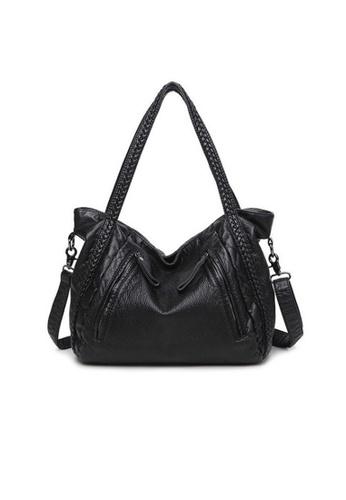 Lara black Weave Strap Shoulder Bag 12AEFACCE037AAGS_1