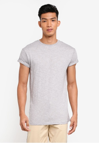 Topman 橘色 Grey Slub Muscle T-Shirt TO413AA0S4QKMY_1