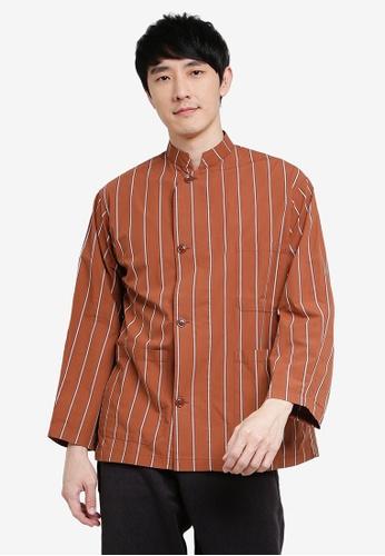 niko and ... orange Striped Shirt B9B5BAA3F2011AGS_1