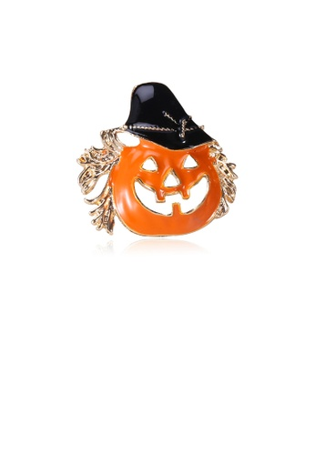 Glamorousky silver Simple Personality Halloween Pumpkin Brooch ABBFAAC5D1D59EGS_1