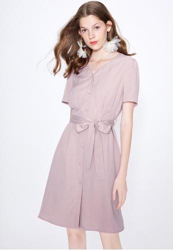 UK Womens V Neck Button Short Sleeve Ladies Fashion Casual Midi Dress Size 6-18