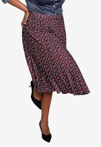d02dd8f8c Shop Violeta by MANGO Plus Size Printed Pleated Skirt Online on ZALORA  Philippines
