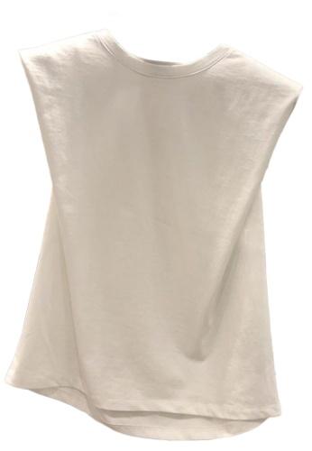 Sunnydaysweety white Plain Simple Sleeveless T-shirt Top A21032014W 0FF73AAEE0A554GS_1