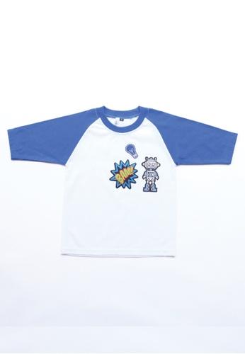 LITTLE TATARA white T-Shirt Raglan Patches BD719KA0691CA6GS_1