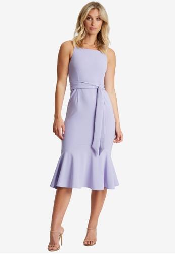 Chancery purple Elianna Midi Dress 87F21AA652DDE8GS_1