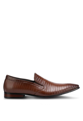 Frank Williams brown Leather Dress Shoes FR169SH0RE6MMY_1