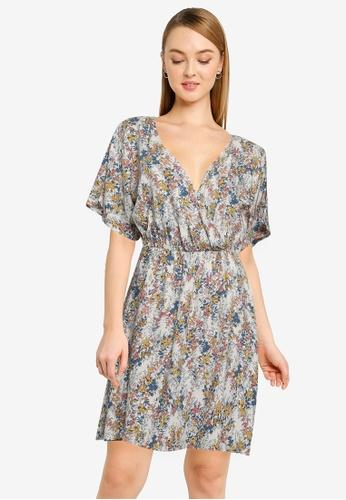 JACQUELINE DE YONG white and multi Una 2/4 Mini Wrap Dress EBA72AAD83DF30GS_1
