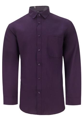 Pacolino purple Casual Smart Long Sleeve Shirt PA995AA0RUS3MY_1