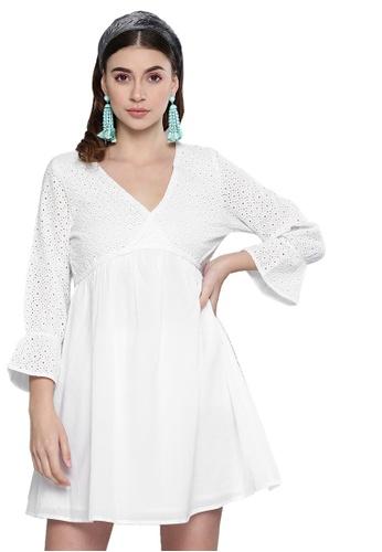 SASSAFRAS 白色 白飛梭直筒連衣裙 C708EAA9309687GS_1