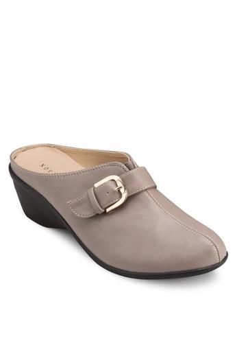 楔型跟扣環懶人鞋, 女鞋, 楔形zalora 心得鞋