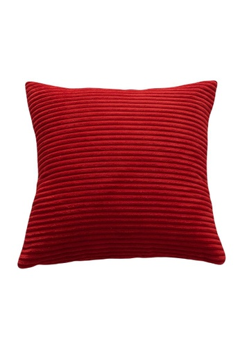 DILAS HOME Basic Corduroy Cushion Cover (Red) 3E216HLC1C4A4CGS_1