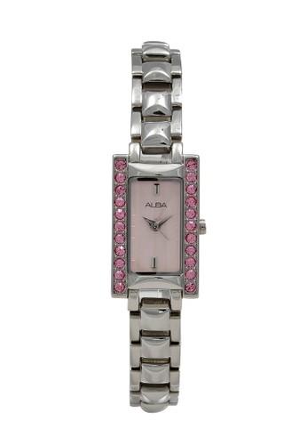 Alba silver ALBA Jam Tangan Wanita - Silver Pink - Stainless Steel - AC3P31 B4CE0AC3E6BED5GS_1