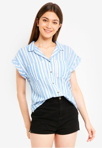 Cotton On blue Emily Short Sleeve Shirt 0389DAA0CE5AF4GS_1