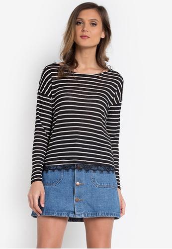Springfield black Black Stripe Long Sleeves SP071AA0KG3VPH_1