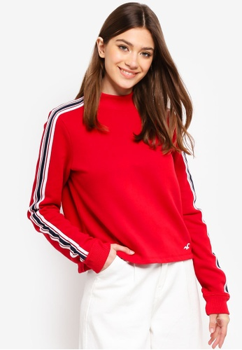 Hollister red Logo Boxy Sweatshirt 1F31AAAB4881FAGS_1