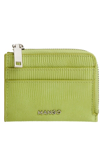 Mango green Croc-Effect Card Holder CDF1BAC1E35244GS_1
