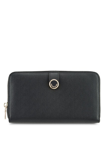 Perllini&Mel black Faux Leather Long Wallet E8CF3ACE69EC8FGS_1