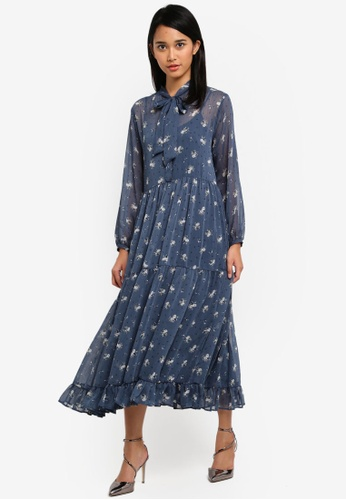 TOPSHOP blue Praire Babydoll Midi Dress D7F63AAD22BA55GS_1