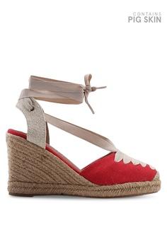 Heels Clothing, Shoes & Accessories Energetic Scene Size 7.5 Red-velvet Very-high Wedge-heel Peep-toe Platform Pumps