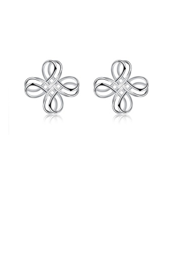 Glamorousky silver 925 Sterling Silver Fashion Simple Twisted Geometric Stud Earrings 74077ACE88F1F2GS_1