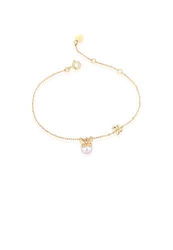 SUNSET gold Premium 925 Sliver Pearl Bracelet 7F8CFACC201B3BGS_1