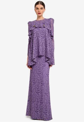 Rizalman for Zalora purple Aila Modern Kurung RI909AA0SEYEMY_1
