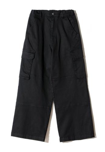 Mini cream black Knee patched cargo pants 98D35AAF179440GS_1