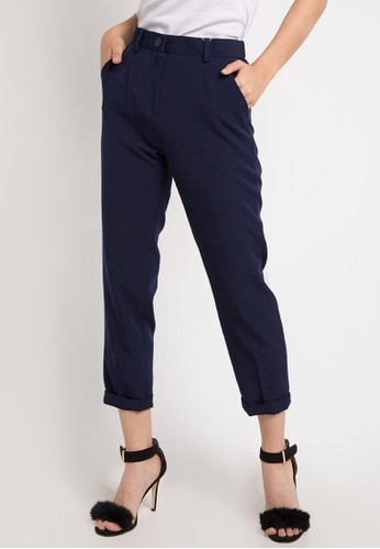 EDITION navy Straight Pipe Pants 9F6B5AA6F1D521GS_1