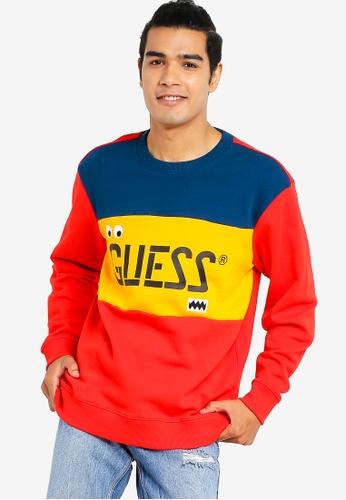 e5b10cd1 Guess multi GUESS x J Balvin Tricolor-Block Graphic Logo Pullover  Sweatshirt 790EBAADE09E16GS_1