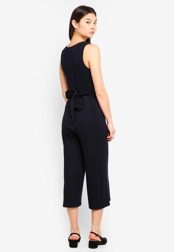 Something Borrowed navy Sleeveless Knit Jumpsuit EEED0AA6546AC9GS_1