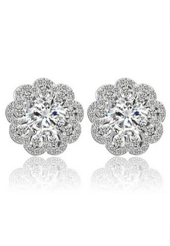Vivere Rosse silver Vivere Rosse Dahlia Blossom Stud Earrings VI014AC74HNLMY_1
