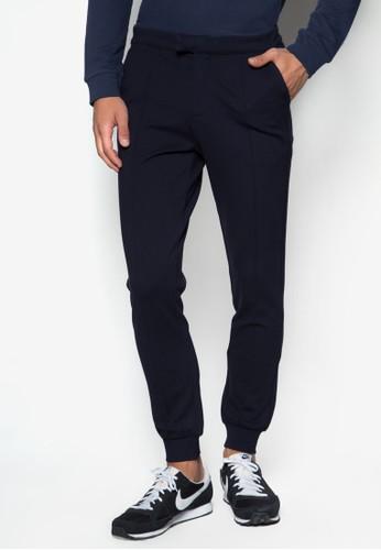 CN - zalora 手錶拉鍊口袋彈性長褲, 服飾, 服飾