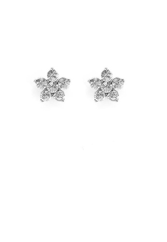 Glamorousky silver Dazzling Flower Earrings with Silver Austrian Element Crystal D52E8ACE94C107GS_1