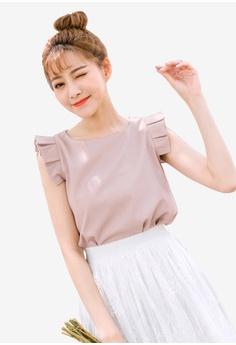 b919ce5c1a655 Tokichoi pink Pleated Detail Sleeveless Blouse 3B1BBAA53397C5GS 1