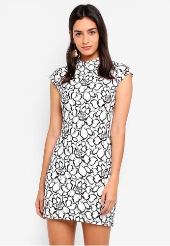 ZALORA multi Bridesmaid Lace Bodycon Dress 79E7DAACFF7D0EGS_1