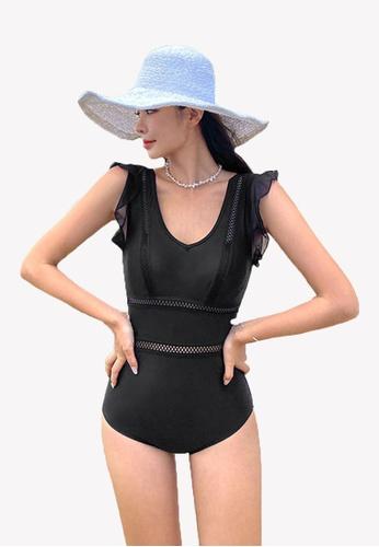 Halo black Black Slim Fit Swimsuits 29C4FUS5EABD0CGS_1