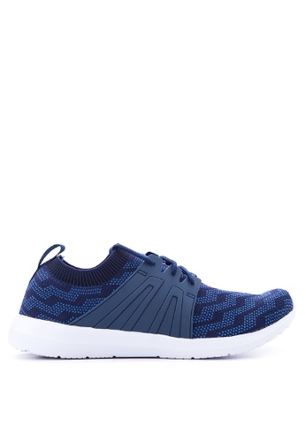 World Balance blue Weave Flex Sneakers   WO444SH69LLQPH_1