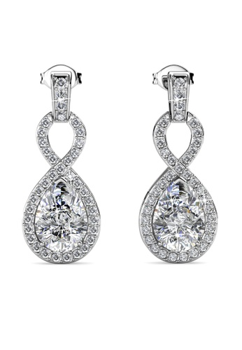 Her Jewellery silver Medallion Earrings -  Made with premium grade crystals from Austria HE210AC0GRCISG_1