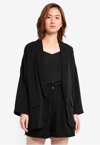 ZALORA black Oversized Blazer 7312CAAB4BDF6BGS_1