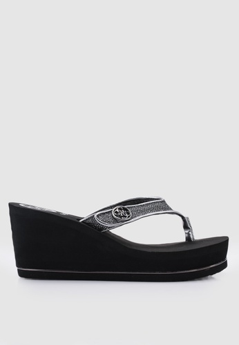 1031307ea7ce Buy Guess Sarraly Platform Wedge Flip Flops Online on ZALORA Singapore