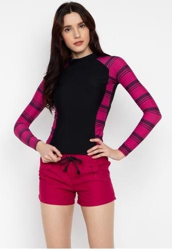 Sassa pink Long Sleeves Rashguard 6168DUS993A391GS_1